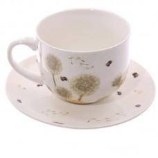 Cappuccino Mug and Saucer - Dandelion
