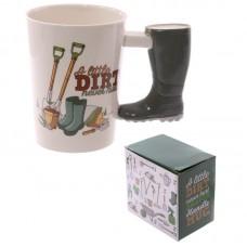 Fun Garden Wellington Shaped Handle Ceramic Mug