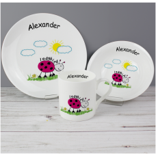 Personalised Ladybird Breakfast Set
