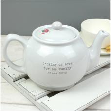 Personalised Vintage Pastel Cupcake Teapot